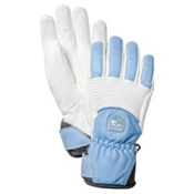 Hestra Fall Line Womens Gloves, Off White-Light Blue, medium