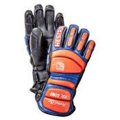 Hestra RSL Comp Vertical Cut Mens Ski Racing Gloves, Black-Flame Red, medium