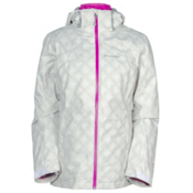 Columbia Whirlibird Interchange Womens Insulated Ski Jacket, White Plaid, medium
