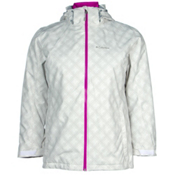 Columbia Whirlibird Interchange Plus Womens Insulated Ski Jacket, White Plaid, medium