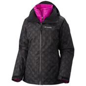 Columbia Whirlibird Interchange Plus Womens Insulated Ski Jacket, Black Plaid, medium
