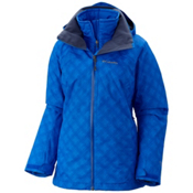 Columbia Whirlibird Interchange Plus Womens Insulated Ski Jacket, Blue Macaw Plaid, medium