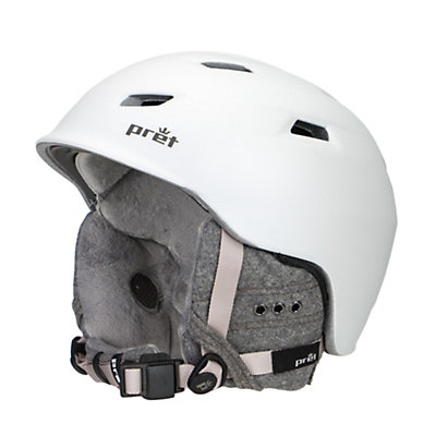 Pret Luxe Womens Helmet, Rubber Pearl White, viewer