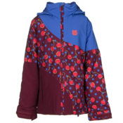 Burton Hart Girls Snowboard Jacket, Periwinks Block, medium