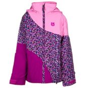 Burton Hart Girls Snowboard Jacket, Pixi Dot Sangria Block, medium
