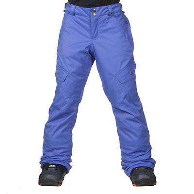 Burton Elite Cargo Girls Snowboard Pants, Heron Blue, viewer