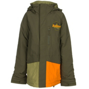 Burton Phase Boys Snowboard Jacket, Algae Block, medium
