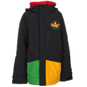 Burton Phase Boys Snowboard Jacket, Rasta, medium