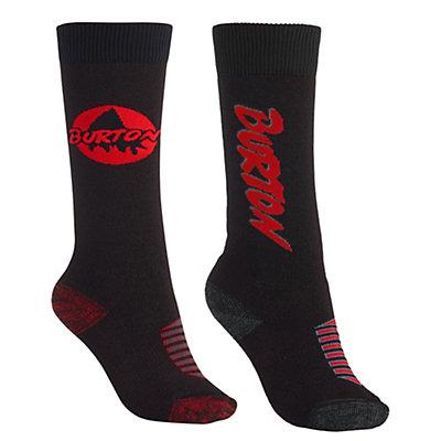 Burton Weekender 2 Pack Kids Snowboard Socks, True Black, viewer