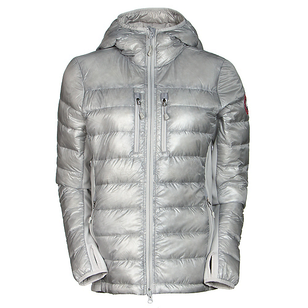 Canada Goose Hybridge Lite Hoody Womens Jacket, Silverbirch, 600