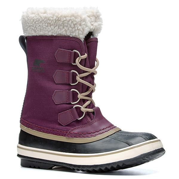 Sorel Winter Carnival Womens Boots, Purple Dahlia-Black, 600
