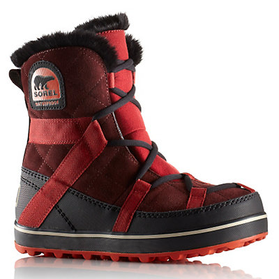 Sorel Glacy Explorer Shortie Womens Boots, Madder Brown, viewer