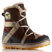 Sorel Glacy Explorer Shortie Womens Boots, Tobacco, medium