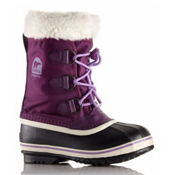 Sorel Yoot Pac Nylon Girls Boots, Bramble-Black, medium