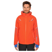 Volkl Black Jack Mens Insulated Ski Jacket, Red Orange, medium