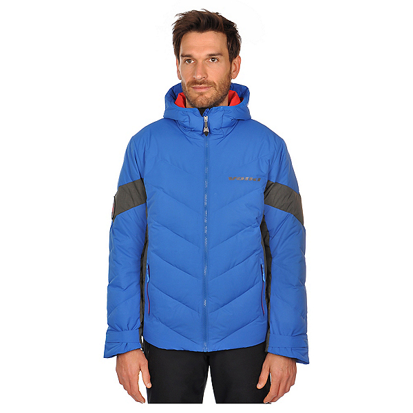 Volkl Yellow Down Mens Insulated Ski Jacket, Blue, 600