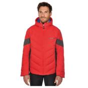 Volkl Yellow Down Mens Insulated Ski Jacket, Red, medium
