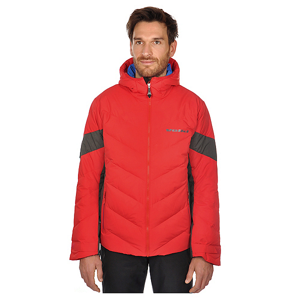 Volkl Yellow Down Mens Insulated Ski Jacket, Red, 600