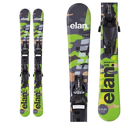 Elan Pinball Pro Kids Skis with EL 4.5 QT Bindings, Green Camo, viewer