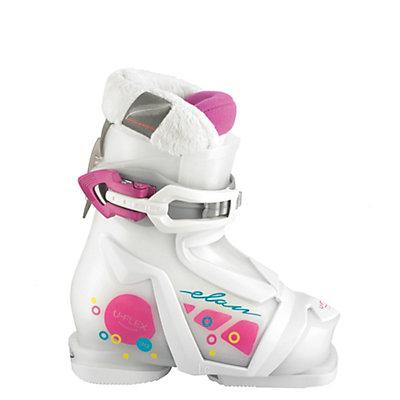 Elan Bloom 1 Girls Ski Boots 2017, White-Pink, viewer