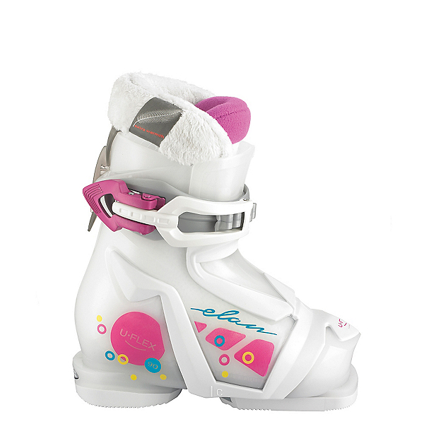 Elan Bloom 1 Girls Ski Boots 2017, White-Pink, 600