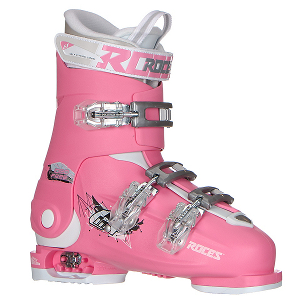 Roces Idea Free G Girls Ski Boots, Deep Pink, 600