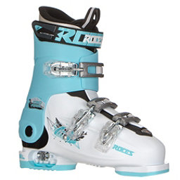 Roces Idea Free G Girls Ski Boots, White-Light Blue-Black, 256