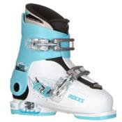 Roces Idea Up G Girls Ski Boots, White-Light Blue-Black (2 Buckle), medium