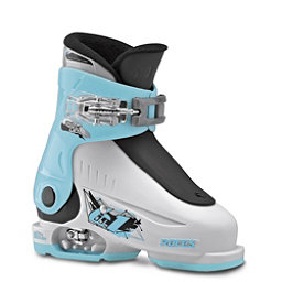 Roces Idea Up G Girls Ski Boots, White-Light Blue-Black, 256