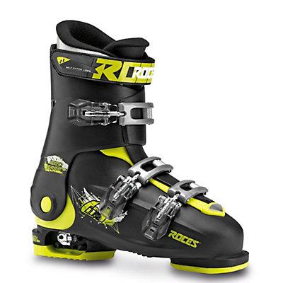 Roces Idea Free Kids Ski Boots, Black-Lime Green, viewer