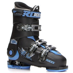 Roces Idea Free Kids Ski Boots, Black-Blue, 256