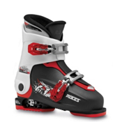 Roces Idea Up Adjustable Kids Ski Boots, Black-White-Red, medium