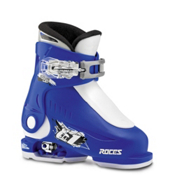 Roces Idea Up Adjustable Kids Ski Boots, Blue-White, medium