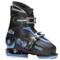 Roces Idea Up Adjustable Kids Ski Boots, Black-Blue, 256