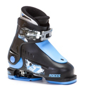 Roces Idea Up Adjustable Kids Ski Boots, Black-Blue, medium