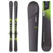 Elan Amphibio 88 XTi Skis with ELX 12.0 Fusion Bindings, Black-Green, medium