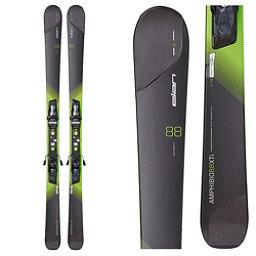 Elan Amphibio 88 XTi Skis with ELX 12.0 Fusion Bindings, Black-Green, 256