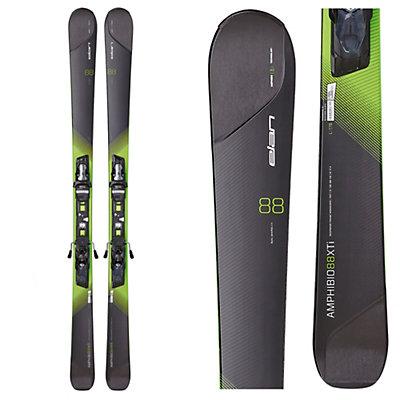 Elan Amphibio 88 XTi Skis with ELX 12.0 Fusion Bindings, Black-Green, viewer
