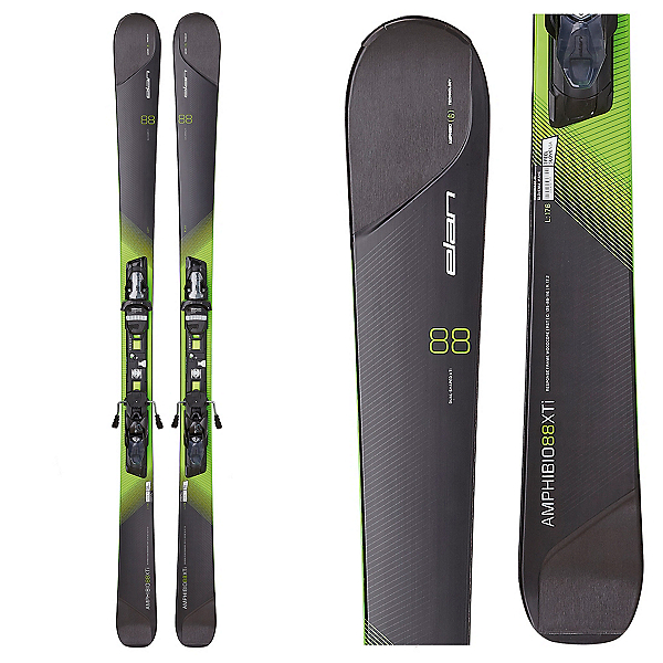 Elan Amphibio 88 XTi Skis with ELX 12.0 Fusion Bindings, , 600