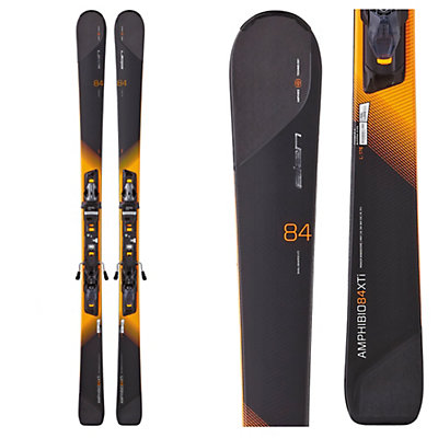 Elan Amphibio 84 XTi Skis with ELX 12.0 Fusion Bindings, Black-Orange, viewer