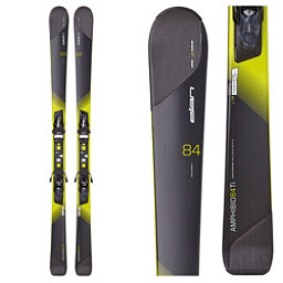Elan Amphibio 84 Ti Skis with ELX 11.0 Fusion Bindings, Black-Yellow, 256