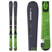 Elan Explore 6 Skis with EL 10.0 QT Bindings, Black-Green, medium
