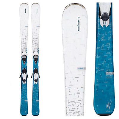 Elan Delight Womens Skis with ELW 9.0 QT Bindings, White-Blue, viewer