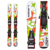 Elan Starr Kids Skis with EL 4.5 QT Bindings, White, medium