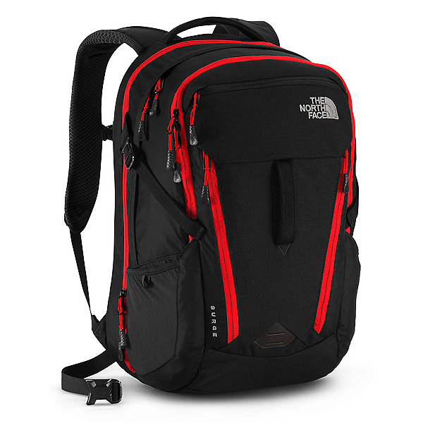 The North Face Surge Backpack 2017, TNF Black-Pompeian Red, 600