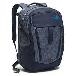 The North Face Surge Backpack 2017, Urban Navy Heather-Banff Blue, 256