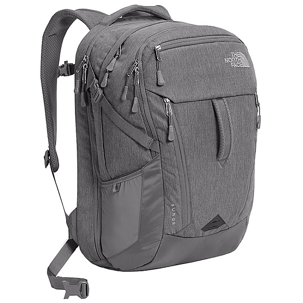 The North Face Surge Backpack, TNF Medium Grey Heather-Zinc G, 600
