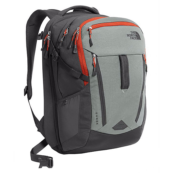 The North Face Surge Backpack 2018, Sedona Sage Grey-Asphalt Grey, 600
