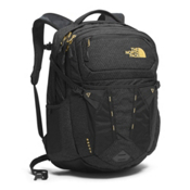 The North Face Recon Womens Backpack 2017, TNF Black-24k Gold, medium