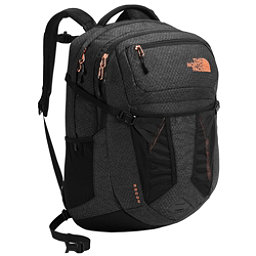 The North Face Recon Womens Backpack 2018, TNF Black Heather-Burnt Coral, 256